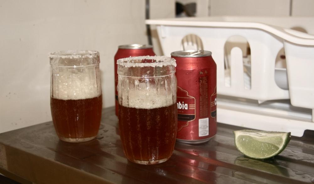 lime, beer, salt, check!