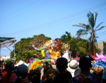 The Batalla de Flores is the biggest parade of the four days of parades. You have to get there really early to get a good spot. We obviously did not get there early