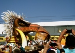 I think the king was on this float, but I was too busy ogling the SABER-TOOTHED LION